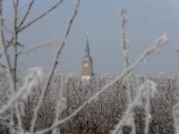 neige clocher alsace hiver gertwiller gel