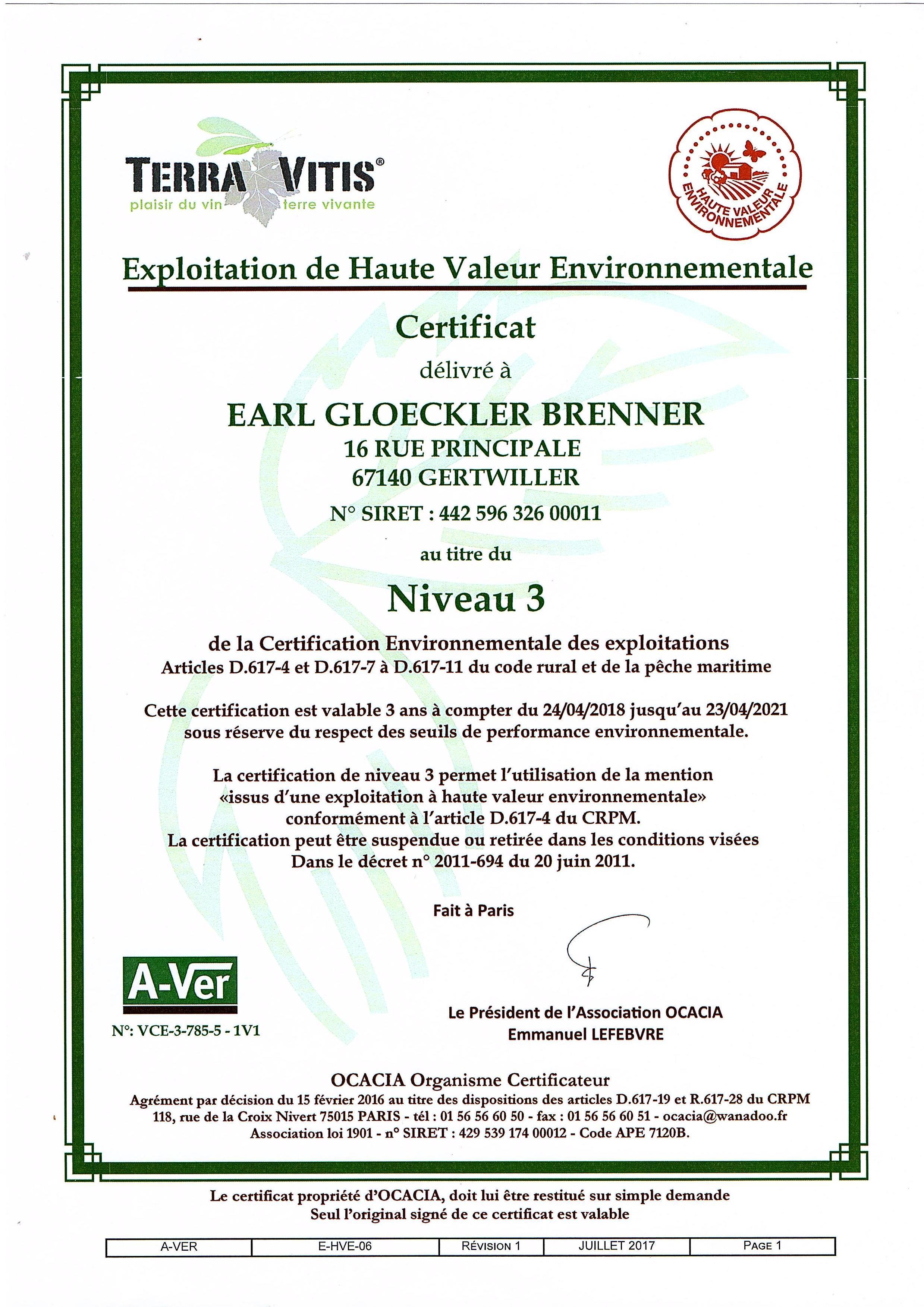 certification-HVE-Gloeckler-Brenner